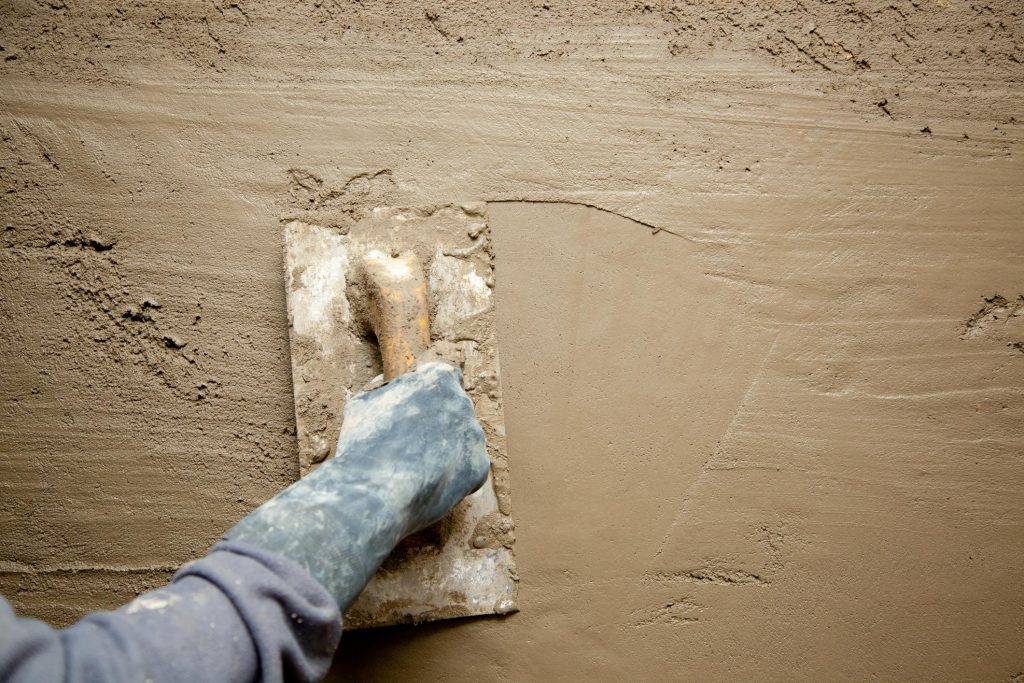 plastering stucco